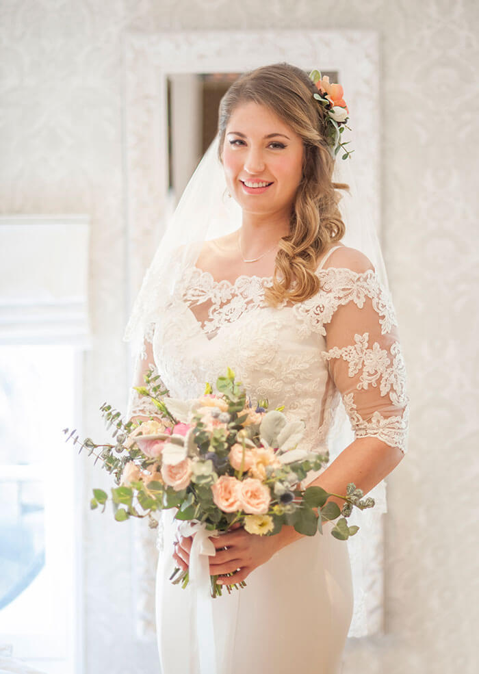 Beautiful bridal makeup and hair styling for your special day